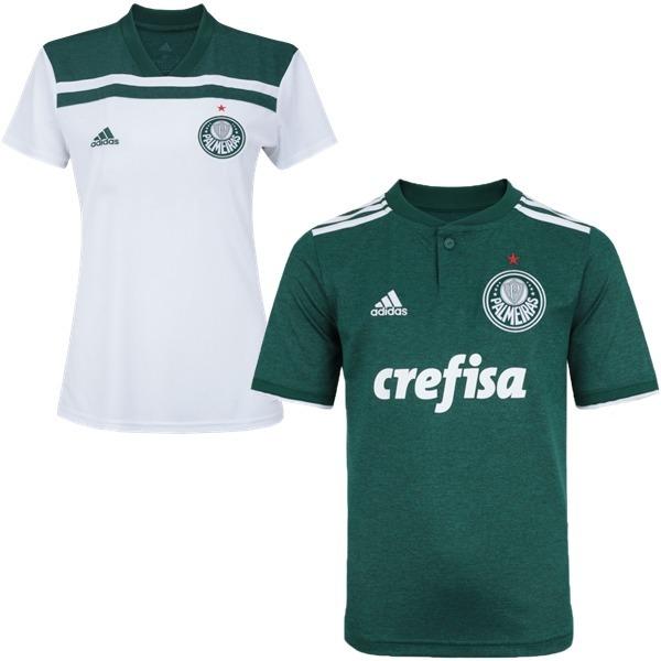 df8ad21224 2 Camisas Palmeiras 1 Polo Feminina E 1 Masculina Promoção - R  120 .