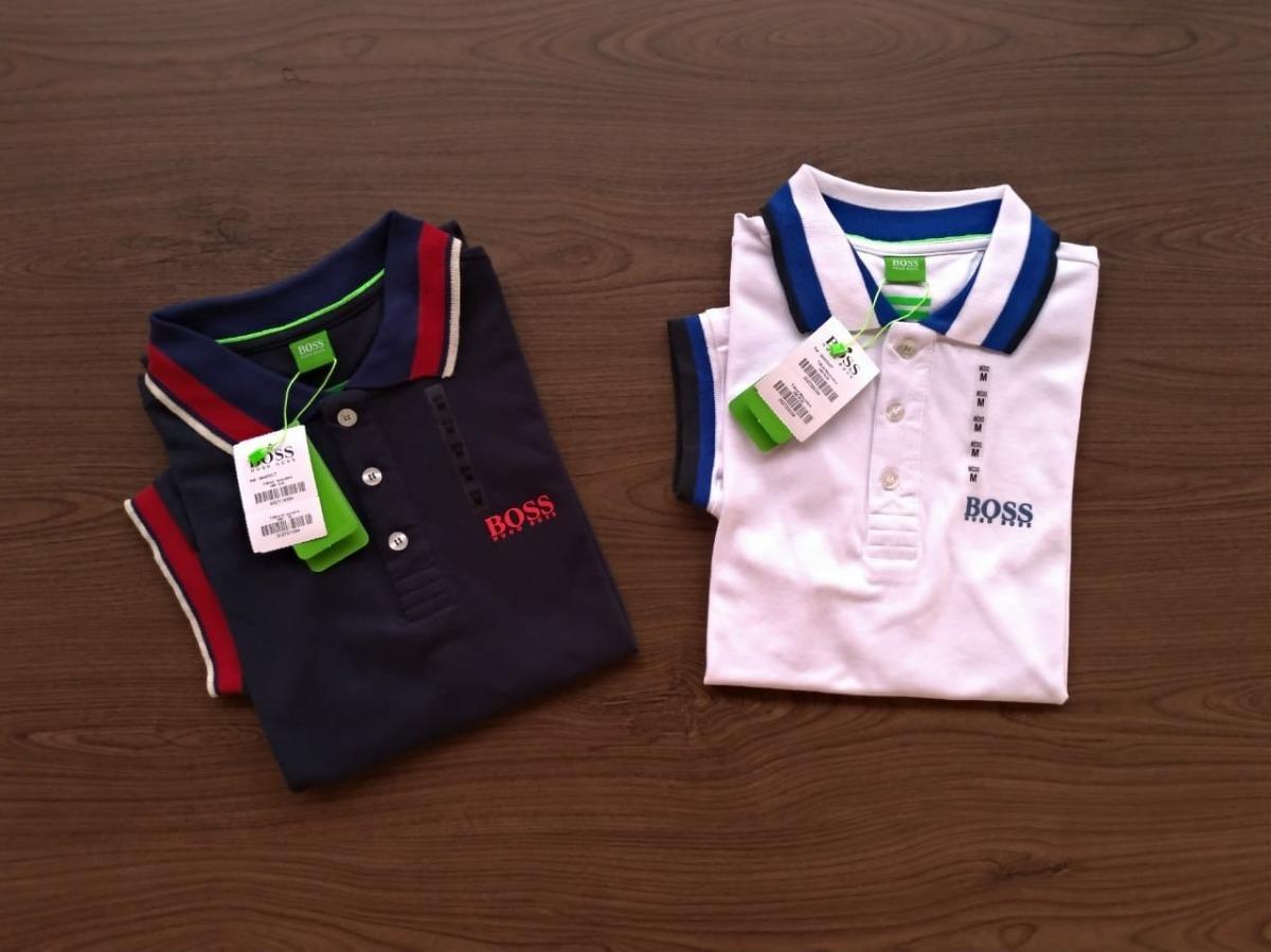 2 camisas polo hugo boss importada peruana emborrachada. Carregando zoom. 46a2494721