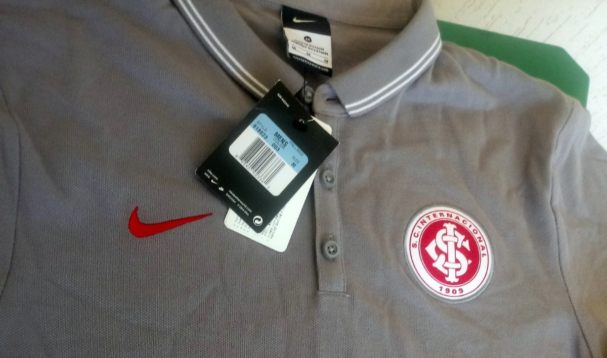 2 camisas polo nike internacional (cinza + branca) promoção! Carregando zoom . 066e7f5bf7b9e