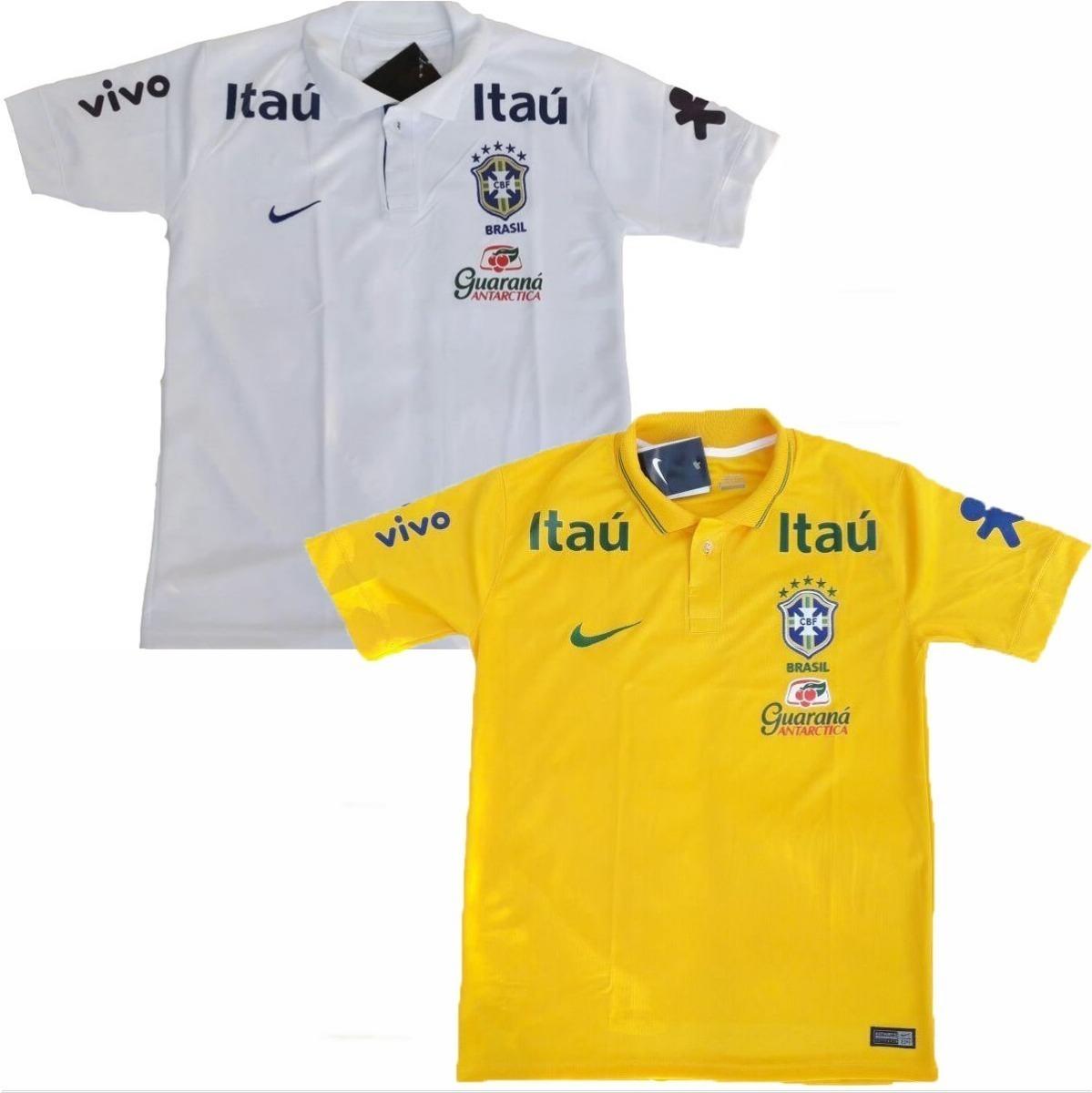1985583300 2 camisas polo passeio da seleção brasileira de futebol 2018. Carregando  zoom.
