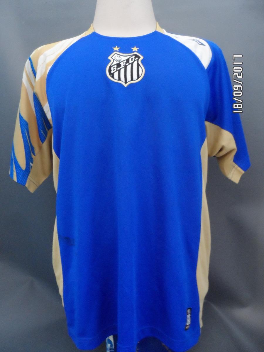 2 camisas santos umbro treino azul. Carregando zoom. bc9edb5fab8ec