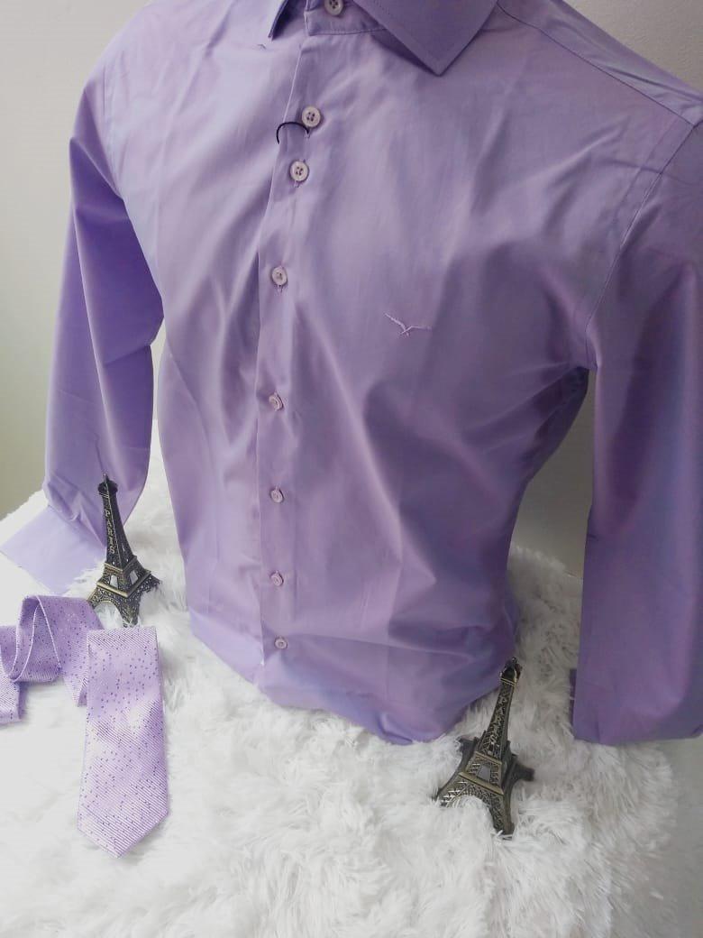 2 Camisas Social Masculina Slim Varias Cores+ Frete+ Broche  - R ... e9a98cee1677f