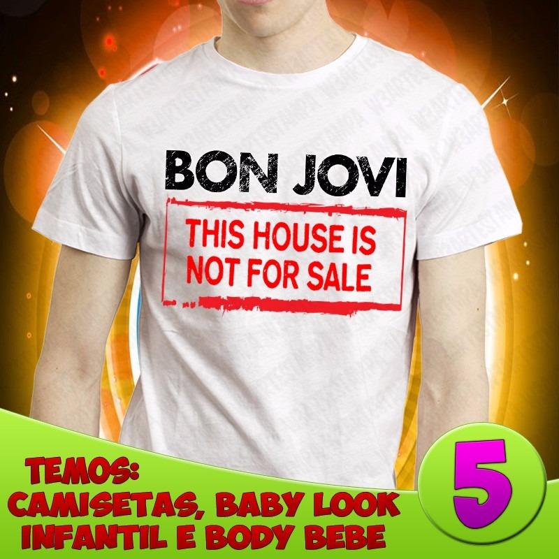 d2eb5b316 2 Camiseta Ou Baby Look Bon Jovi Rock In Rio Camisa Banda - R  100 ...