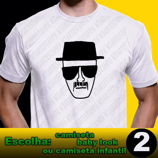 4606c97240537 2 Camisetas Heisenberg Breaking Bad Blusa Walter White - R  54