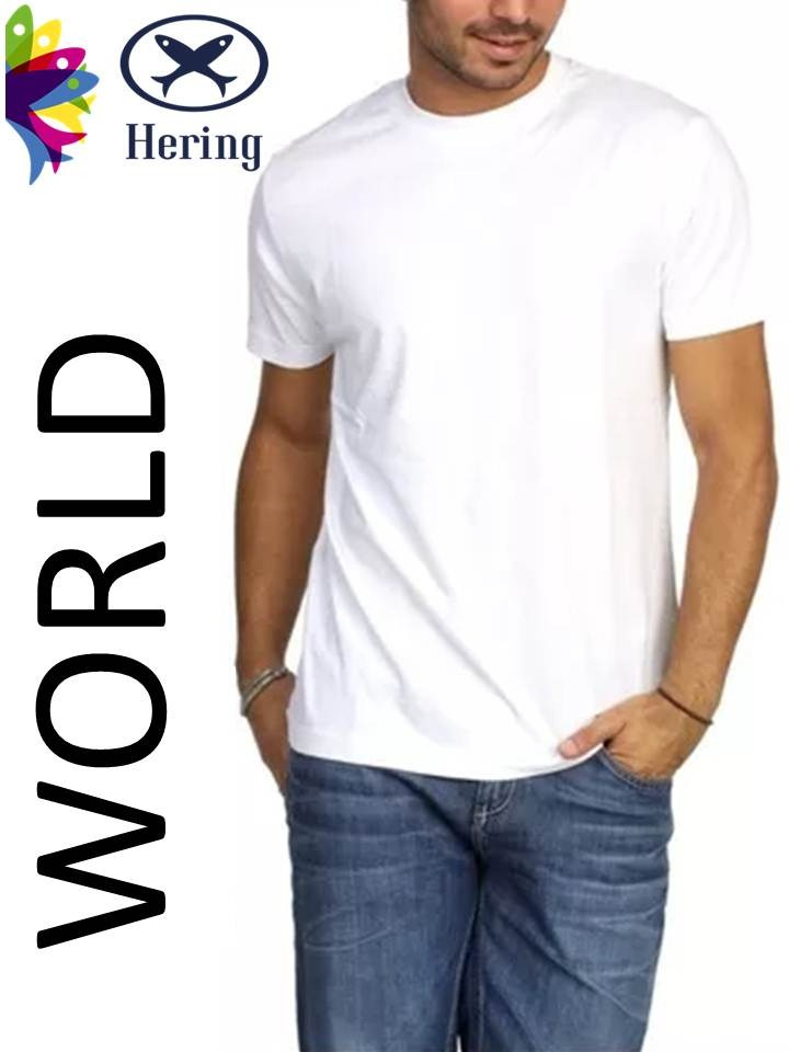 8550cf288b 2 Camisetas Hering Manga Curta 0201 (world) - Masculina - R  59