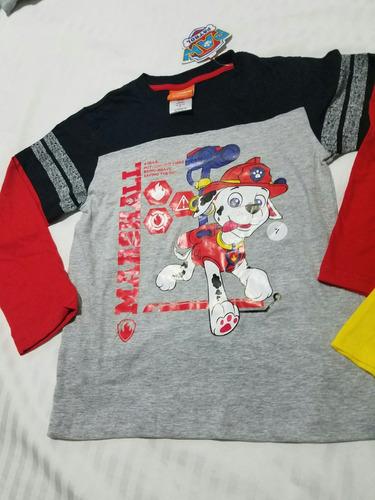 2 camisetas orginales nuevas americana paw patrol  7 años