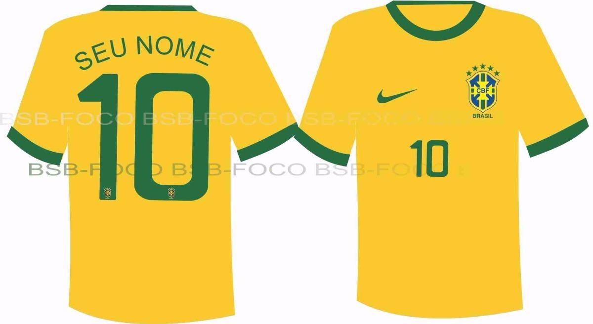 97fdbbfdbb 2 camisetas personalizada da seleção brasileira. Carregando zoom.
