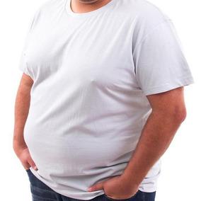 ae1d7ea767 5 Camisetas Gola V Plus Size Grande Malha Fria Qualidade