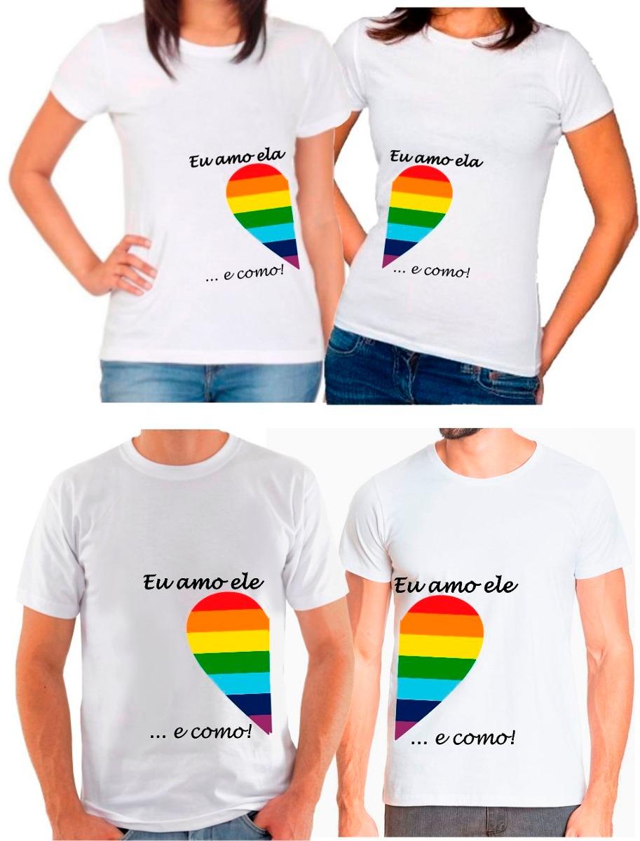 2 Camisetas Poliéster Namorados Casal Love Amor Coração Gay - R  55 ... 8a2487f36b4b0