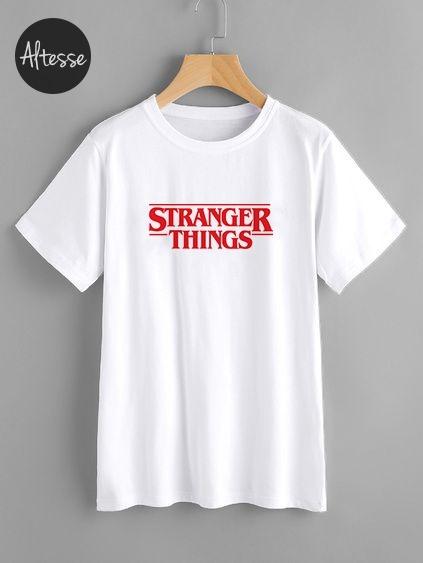 Camiseta stranger things personalizada hombre