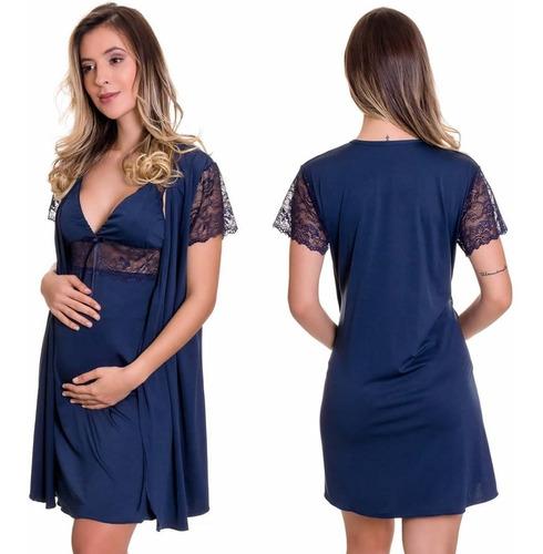 2 camisolas amamentação +2 robes - maternidade - lançamento
