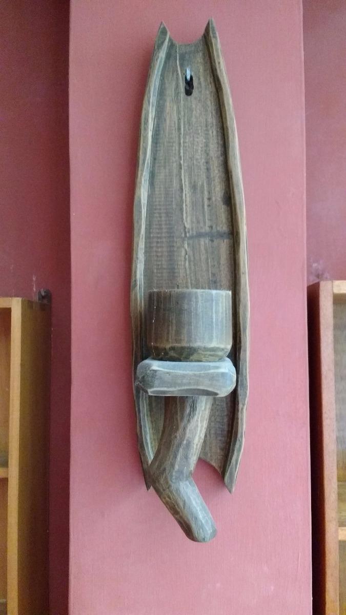 2 candelabros de madera para pared s 45 00 en mercado libre - Candelabros de pared ...