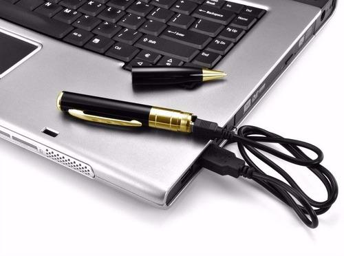 2 canetas espiã filmadora hd 1280 x 960 grav voz pen drive