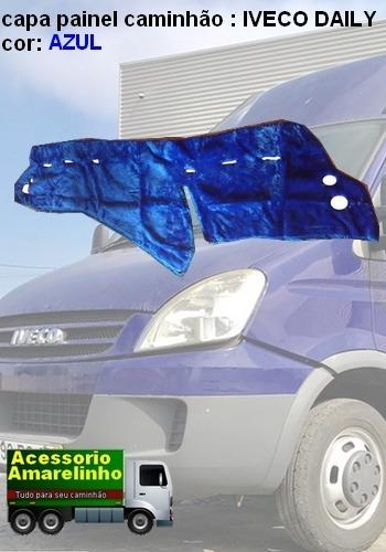 313d9fa0f 2 Capas De Painel Caminhão Iveco Daily Azul Pelucia - R  199