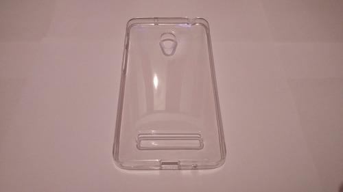 2 capas fumê + transparente asus zenfone 6 + pelicula vidro
