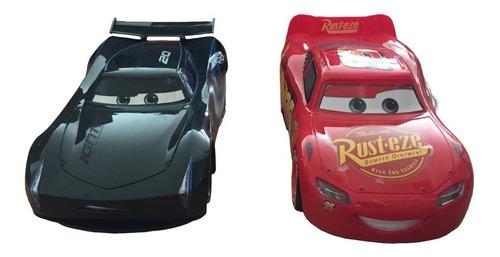 2 carros cars control remoto rayo mcqueen jackson storm