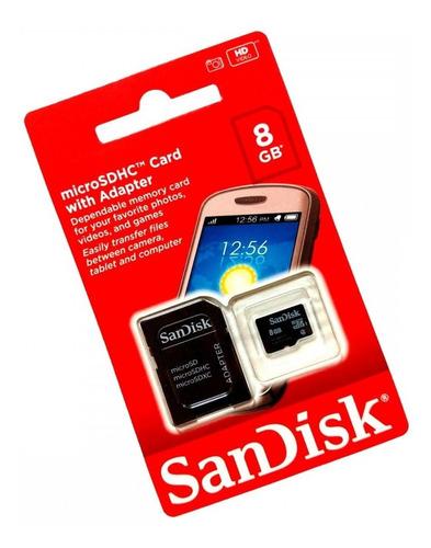 2  cartão de memoria de 8gb micro sdhc