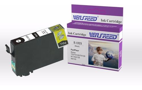 2 cartucho compatible epson 132n 133n tx130 combo2 sin negro