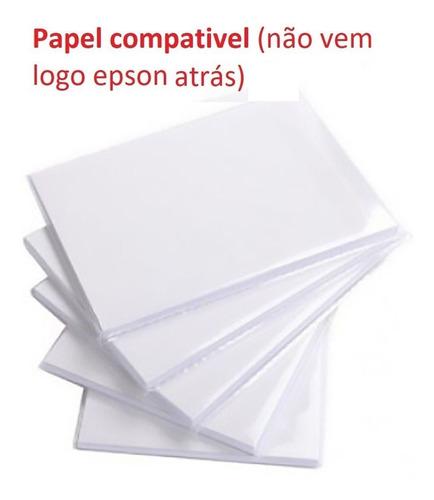 2 cartuchos t5846 original epson, 300 papelcompatível pm225