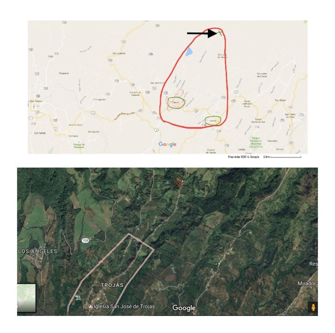 2 casas 1 propiedad 0.4 hects montaña vistas trojas sarchí