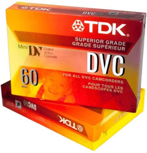 2 cassette mini dv tdk x s/. 19.90   made in japan