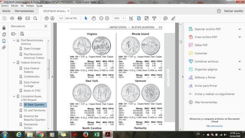 2 catalogos pdf, monedas coin and price 2018 y paper mone ls