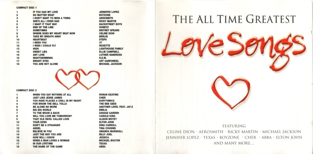 List of classic love songs of all time