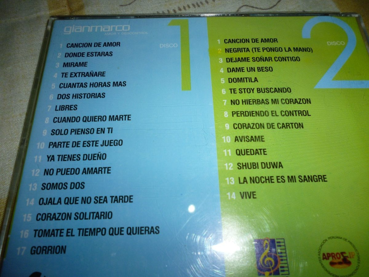 2 Cd Gian Marco Amor Y Descontrol Original - S/ 38,00 en Mercado Libre