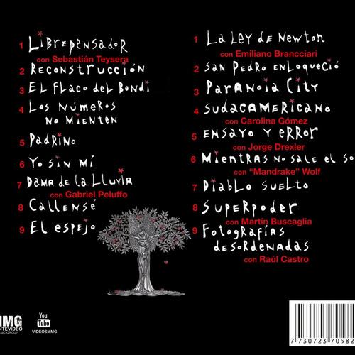 2 cd tabaré cardozo - libre pensador / la ley de newton
