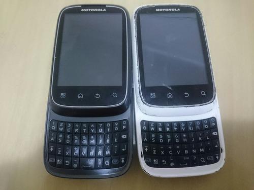 2 celulares android motorola xt300 com defeito para pecas