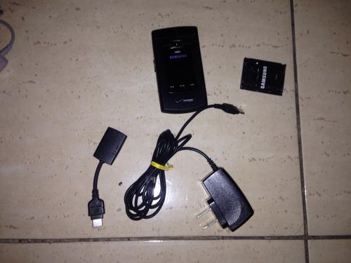 2 celulares samsung v cast sch-u740 negro y gris muy buenos