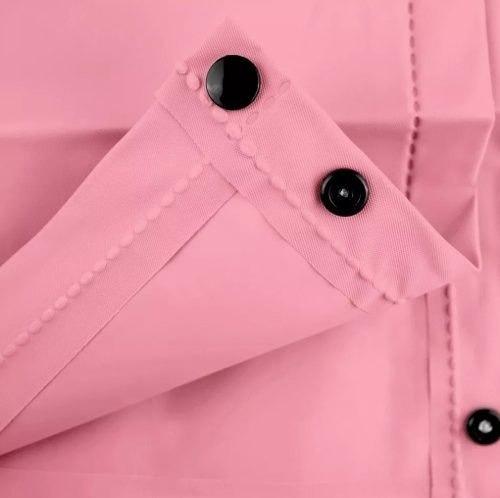 2 chaquetas impermeable lluvia goma eva  rosa/beige r4127