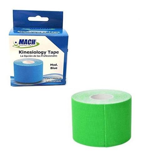 2 cintas kinesiologica mach verde