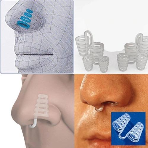 2 clipe nasal dilatador magnético anti-ronco nariz espiral