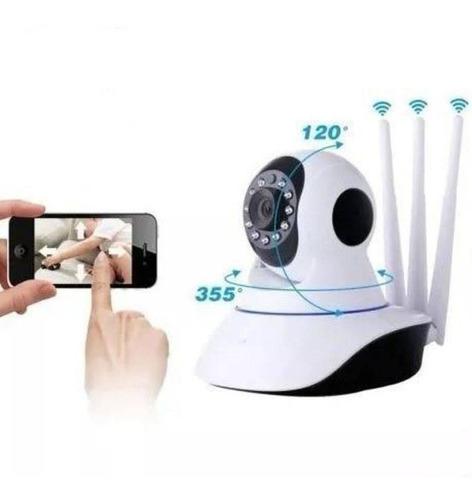 2 câmeras robo infra ip hd wifi+sensor alarme promoção
