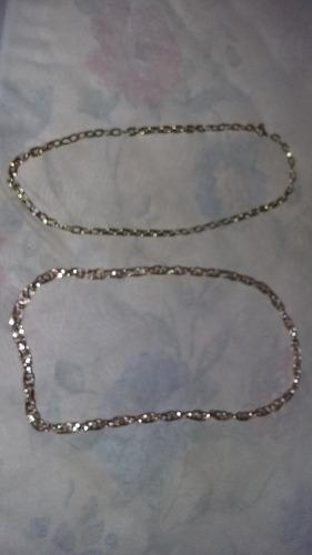 2 colar  dourada 49cm de cirfunferencia