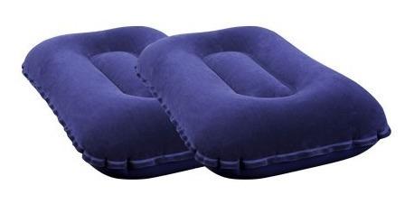 2 colchon inflable 1 una plaza + 2 almohadas + inflador