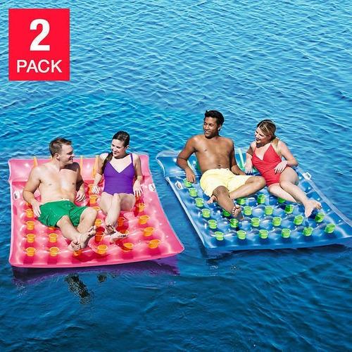 2 colchones camas inflables de alberca 1.95x1.46m bestway
