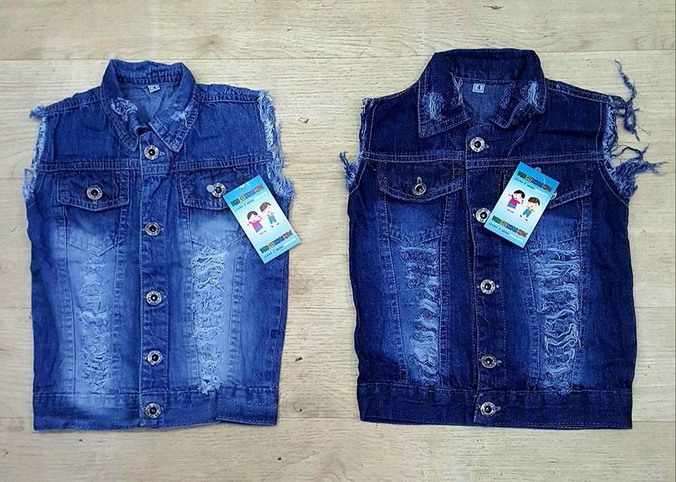 4fd0a8b275 2 colete jeans infantil masculino infantil moda criança novo. Carregando  zoom.