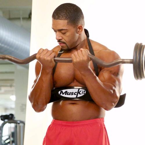 2 coletes scott, arm blaster, biceps - academia acessórios