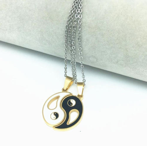 2 collares yin yang best friend  amigos parejas
