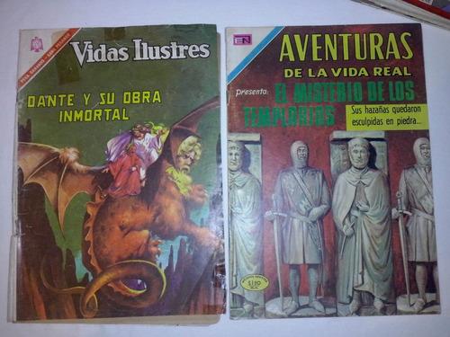 2 cómics aventuras de la vida real - vidas ilustres -novaro
