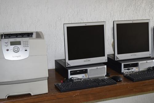 2 computadoras completas hp para ciber 3.0ghz 1gb de ram