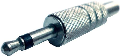 2 conectores fichas miniplug mono 3.5mm metal hamc