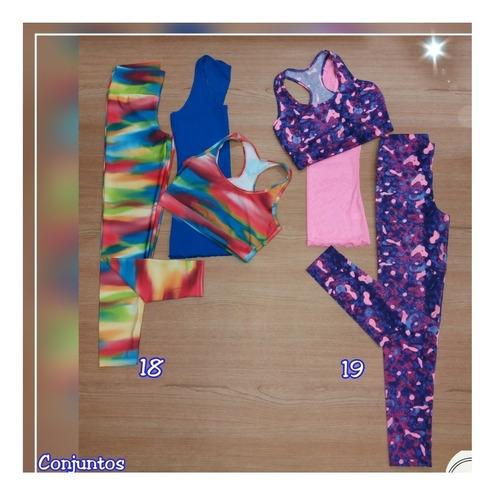 2 conjuntos gimnasio + malla, variados estilos y colores