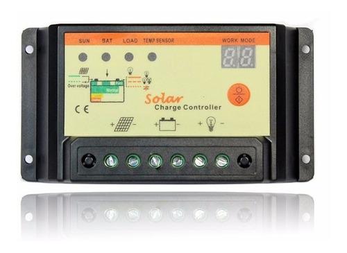 2 controladores de carga 10a temporizador 12/24 panel solar.