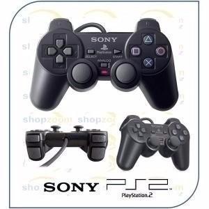 2 controle serie a original ps2 +adaptador usb jogar pc ps3
