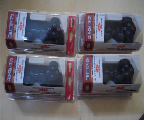 2 controles inalámbricos ps2/ ps3/ pc 2.4 envío gratis x dhl