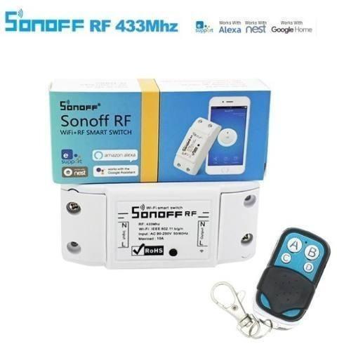 2 controles remoto rf433/1527 mhz para sonoff bridge rf433