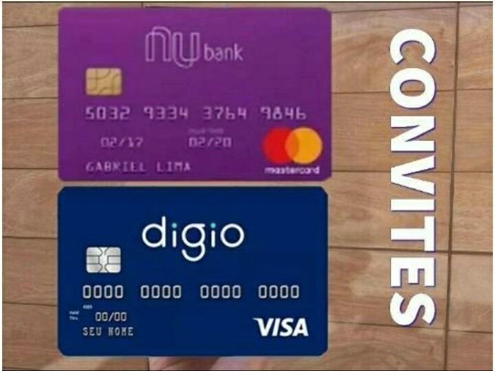 2 Convites Digio Nubank Cartões De Crédito Sem Anuidade R 499